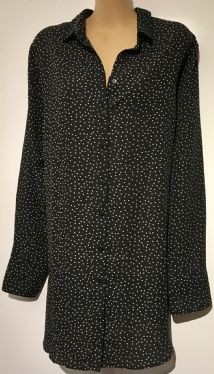 NEW LOOK MATERNITY BLACK SPOTTY BUTTON SHIRT BNWT SIZE 14